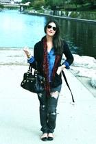 charcoal gray Love Culture jeans - black Target jacket - blue Forever 21 shirt