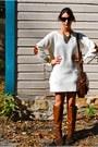 Ivory-sweater-h-m-dress