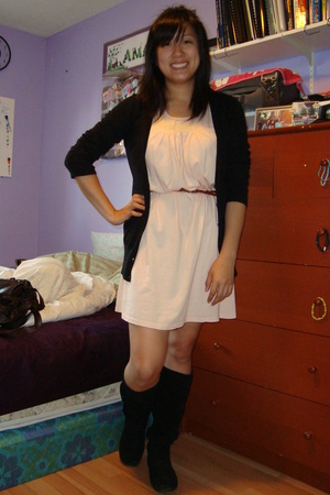 H&M sweater - Urban Outfitters dress - Urban Outfitters belt - Steve Madden shoe