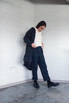 Topshop jacket - Zara loafers - vintage pants