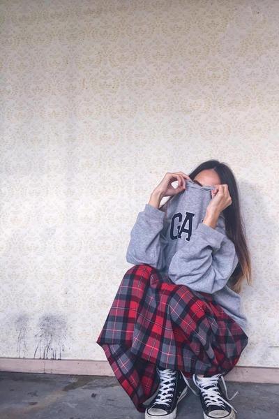 Converse shoes - Gap sweatshirt