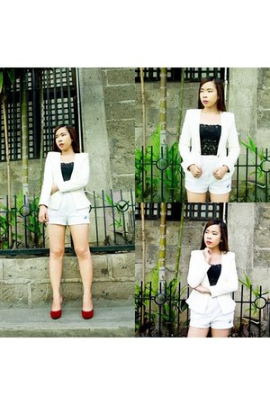 white Forever 21 suit