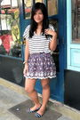 White-forever-21-shirt-forever-21-skirt-zara-shoes