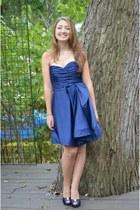 blue dress - blue heels