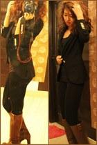 Zara blazer - leather boots