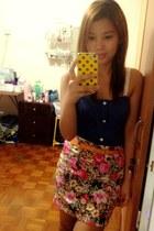 orange random skirt