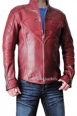 real leather Superman Smallville Jacket jacket