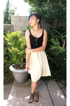 cream American Apparel skirt - light brown Steve Madden sunglasses