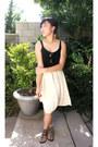 Light-brown-steve-madden-sunglasses-cream-american-apparel-skirt
