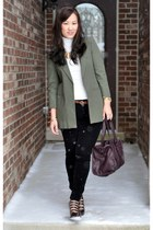 Elizabeth and James blazer - Zara bag - Marshalls top - Forever 21 pants