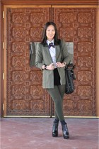 army green Elizabeth and James blazer - black Miista boots