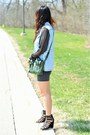Gray-redopin-dress-forest-green-31-phillip-lim-bag-sky-blue-h-m-vest