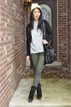 lace up Jessica Simpson boots - skinny Old Navy jeans
