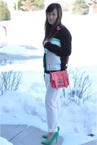 Forever 21 sweater - PROENZA SCHOULER bag - ivory cropped Express pants