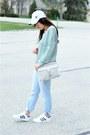 Light-blue-boyfriend-forever-21-jeans-aquamarine-metallic-forever-21-sweater