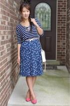 blue Forever 21 skirt - white Rebecca Minkoff bag