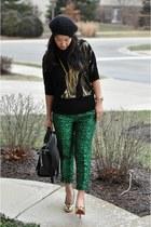 Zara bag - black wool knit H&M hat - Forever 21 top