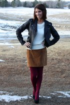 suede Old Navy skirt - black leather Guess jacket