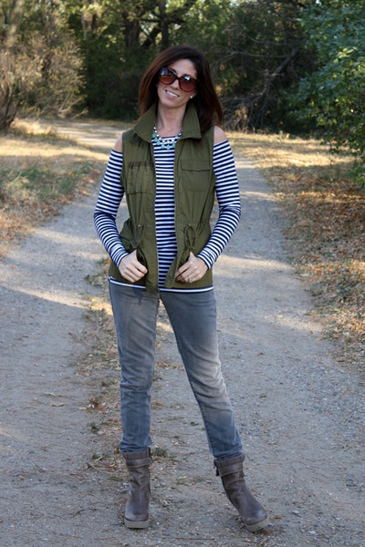 Old Navy vest - Gap boots - Gap jeans