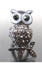sparkling owl ring