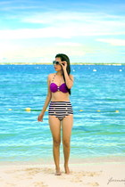 white Embellish sunglasses - purple China Mart swimwear