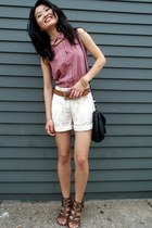 Mango bag - Urban Outfitters shorts - Guess top - thrifted belt