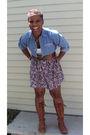 Vintage-skirt-vintage-blouse-forever-21-t-shirt-ebay-boots