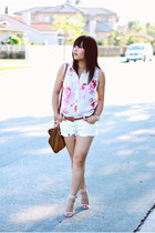 leather Zara purse - denim Zara shorts - sandal Zara sandals