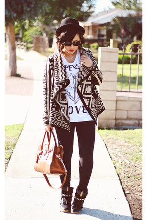 tribal Forever 21 cardigan - satchel Michael Kors bag