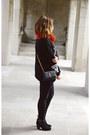 Black-suede-ivanka-trump-boots-burnt-orange-knitted-h-m-scarf
