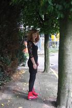 H&M dress - tights - doc martens shoes