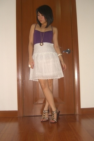 Mango top - skirt - landmark shoes - H&M accessories