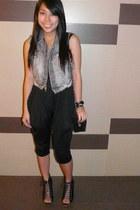 Parisian shoes - 101 new york pants - denim vest