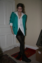 short skirt and a long jacket