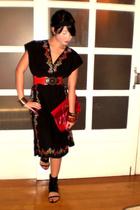 forever 21 dress - Zara belt - Graxie shoes - Details purse - Mango bracelet - B