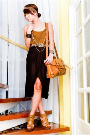 strappy heels Topshop sandals - Zara bag - Glitterati skirt