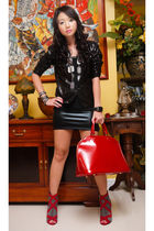 black Glitterati skirt - red online shoes - black Poisonberry blazer