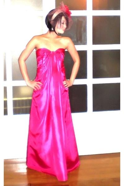black 255 Chanel bag - pink Debbie Co dress - moms earrings