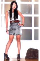 Topshop top - Glitterati skirt - Yves Saint Laurent purse - Bumper shoes - from