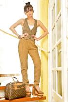 brown annara finch wedges - dark brown Louis Vuitton bag