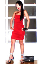 black 255 Chanel purse - black Zoo Shop shoes - red Glitterati dress