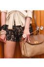 Cream-glitterati-blazer-beige-vintage-nina-ricci-bag-black-ava-lace-glittera