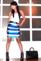 Topshop top - Glitterati skirt - mums closet belt - Louis Vuitton purse - multip