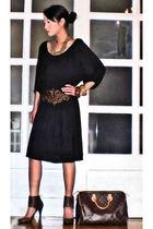 random from the beach bracelet - Zara shoes - Zara dress - Louis Vuitton bag