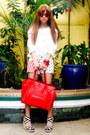 Red-celine-bag-ivory-fashion-galore-shorts-white-love-jane-blouse