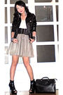 Silver-gingersnaps-skirt-black-random-from-hk-jacket-white-giordano-top-bl