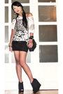 White-topshop-t-shirt-black-h-m-skirt-black-topshop-boots-vintage-purse-