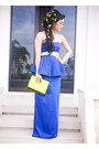 Navy-glitterati-dress-chartreuse-37la-bag-aquamarine-accessories