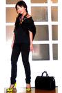 Black-tyler-coat-black-mango-top-black-zara-pants-yellow-miss-sixty-shoes-