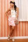 Pink-glitterati-dress-beige-glitterati-boots-beige-topshop-purse-beige-top
